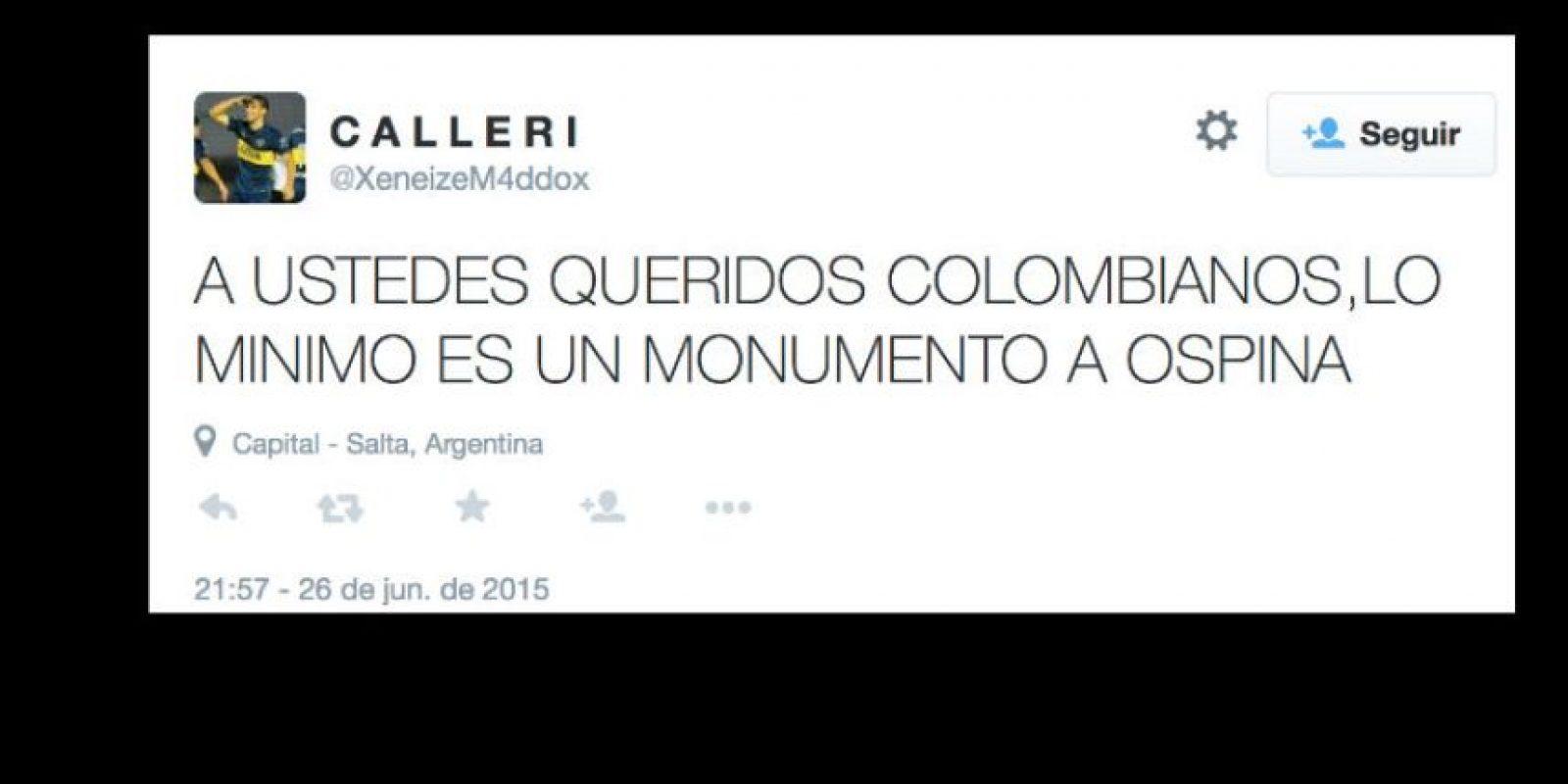 Y por supuesto, el portero colombiano se lleva todos los halagos. Foto:vía Twitter