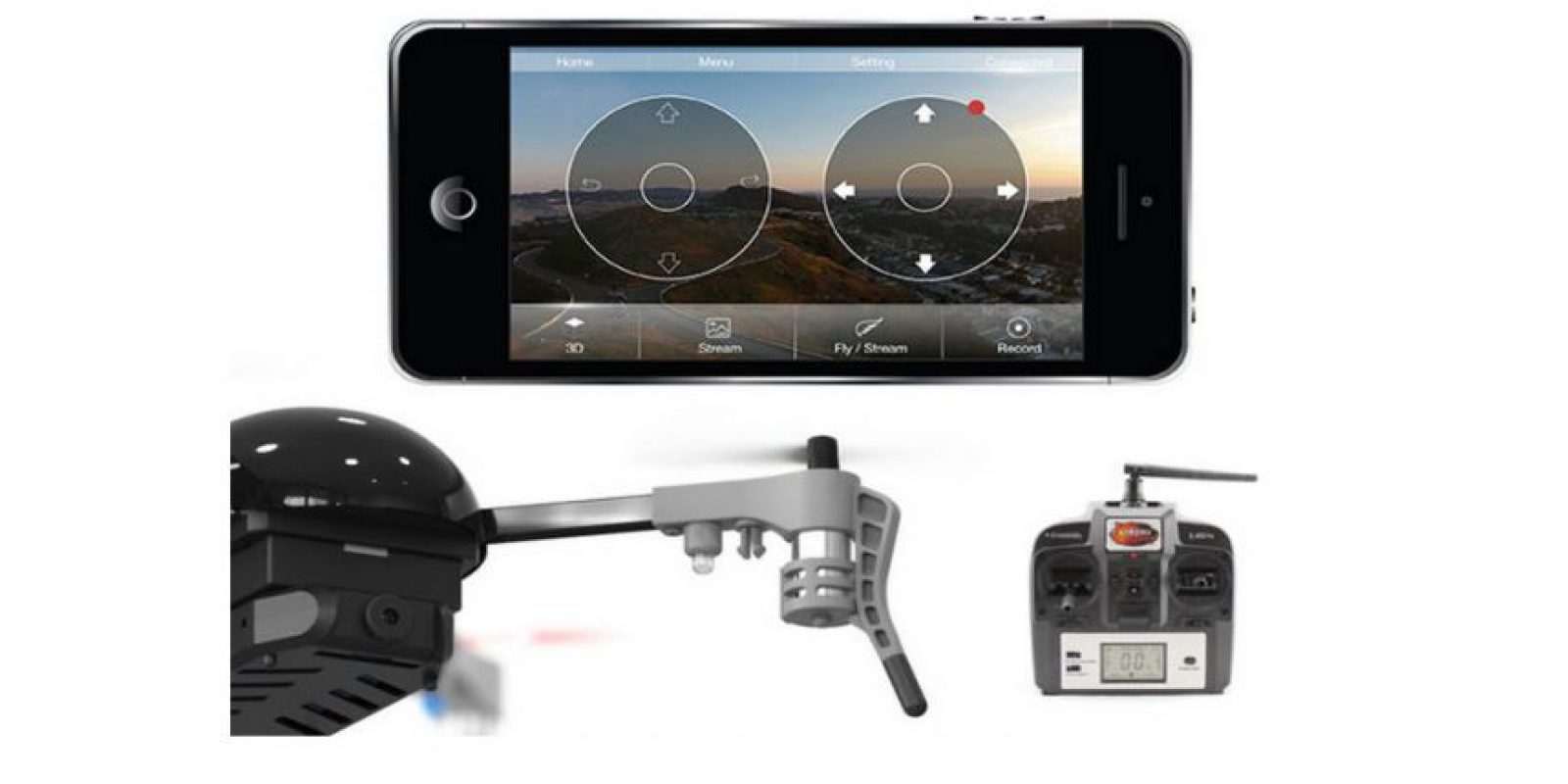 El mando puede ser mediante teléfono móvil o control a distancia Foto:Vernon Kerswell/Micro Drone 3.0