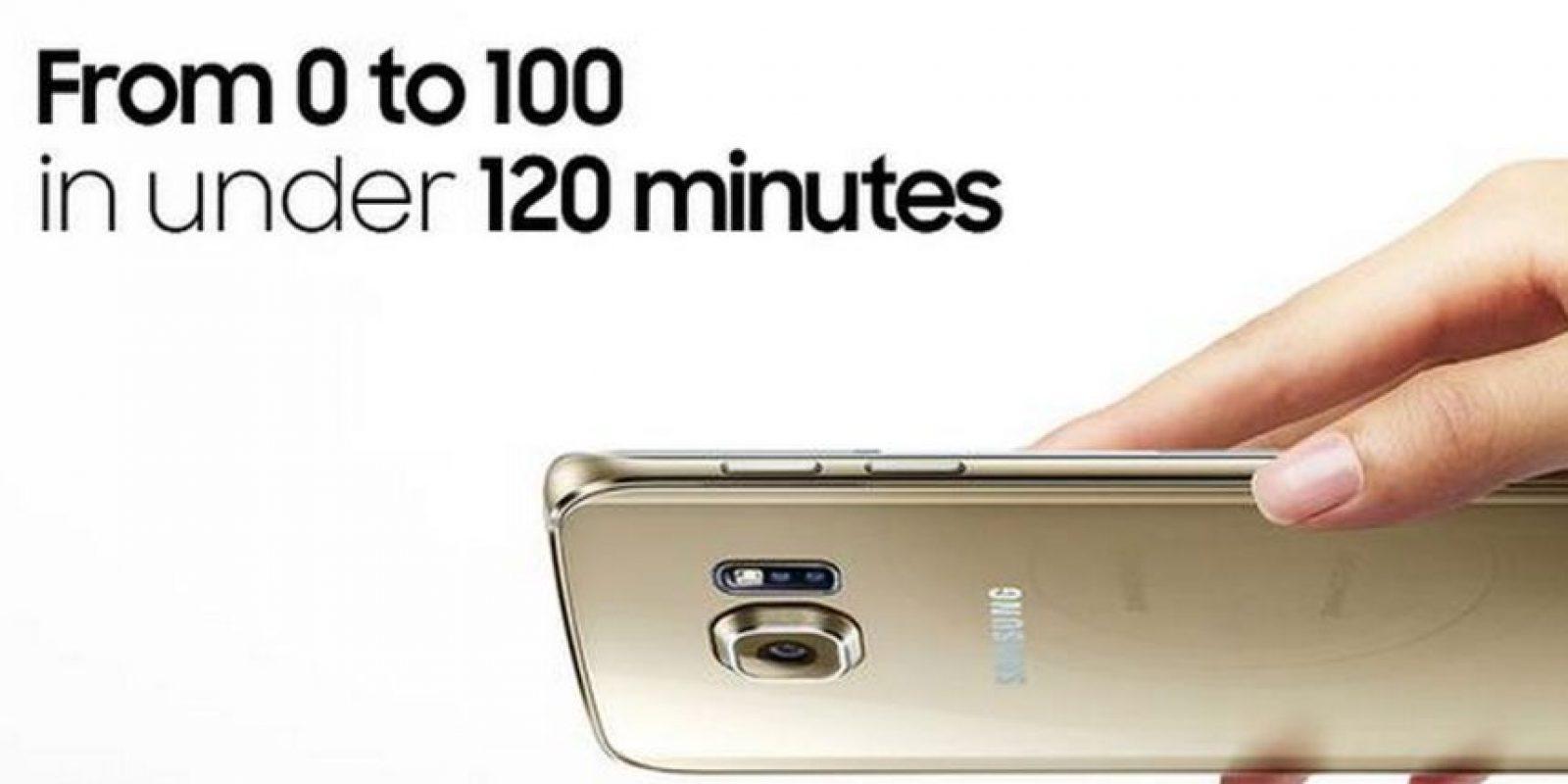 La batería es irremovible, carga al 100% en 120 minutos Foto:Samsung