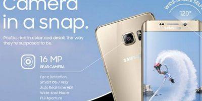 16 MP cámara trasera y 5 en la delantera , Real Time HDR Foto:Samsung