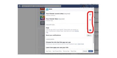 """Si solo desean editar las opciones, den """"click"""" en el ícono de lápiz y desmarquen todos los campos que no sean obligatorios Foto:Facebook"""