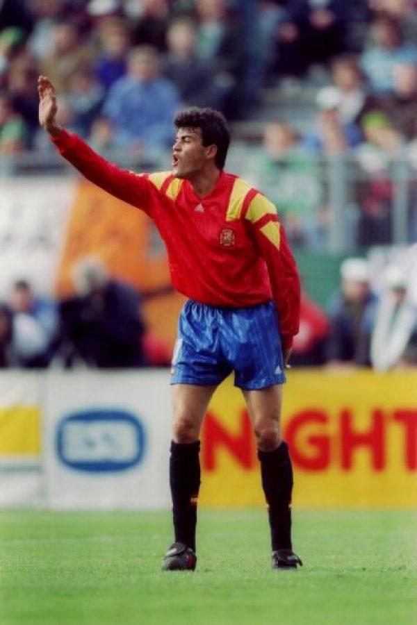 Con la Selección de España ganó los JJOO de 1992, que se disputaron en Barcelona. Además, estuvo en el Mundial de Estados Unidos 1994, Francia 1998 y Japón-Corea 2002 Foto:Getty Images