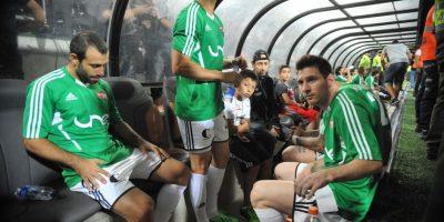 La banca de los amigos de Messi. Foto:Getty Images
