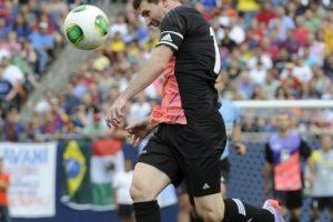 Messi intenta un remate. Foto:Getty Images