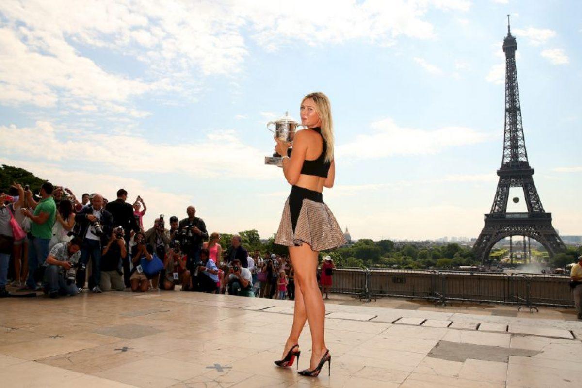 """8. Maria Sharapova. La tenista rusa participa en actos de caridad de """"Variety The Children's Charity"""" y """"Sole 4 Shoes"""" Foto:Getty Images"""
