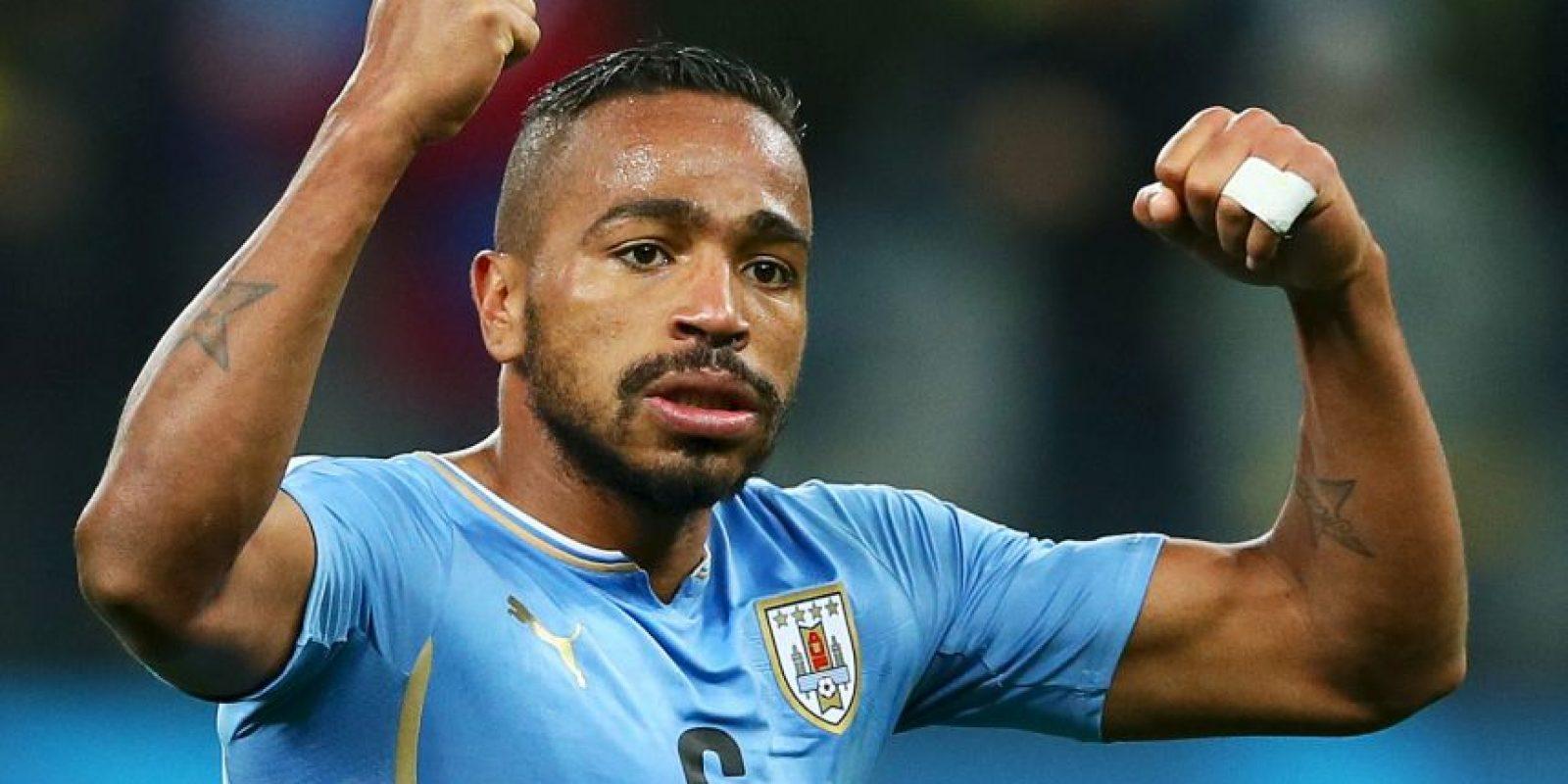 El dominador del centro del campo del campeón uruguay, además, colaboró con dos goles. Foto:Getty Images