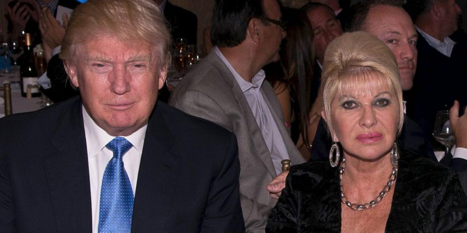 Trump estuvo casado con Ivana Trump, modelo checoslovaca. Foto:Getty Images