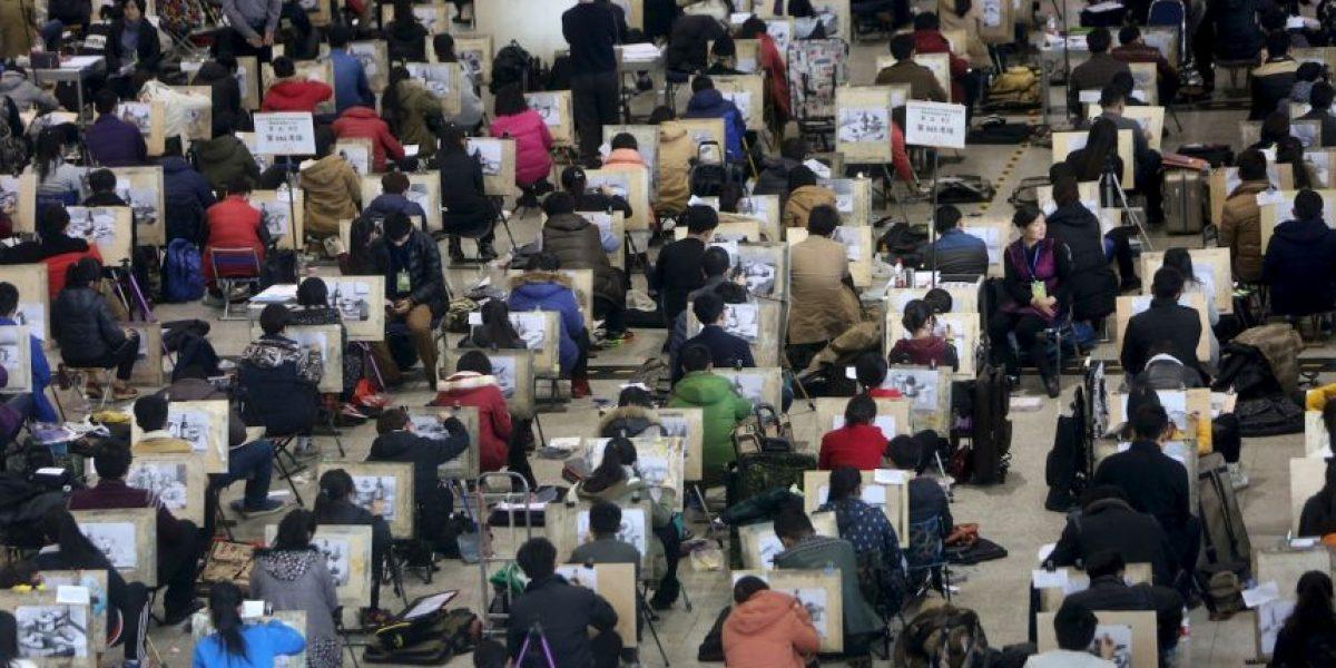 China utiliza drones para vigilar que nadie haga trampa en los exámenes