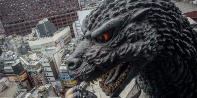 Hace poco se inauguró un edificio en el que destaca la cabeza de Godzilla. Foto:Getty Images