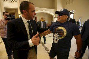 Diego siempre mostró su apoyo al príncipe jordano. Foto:Getty Images