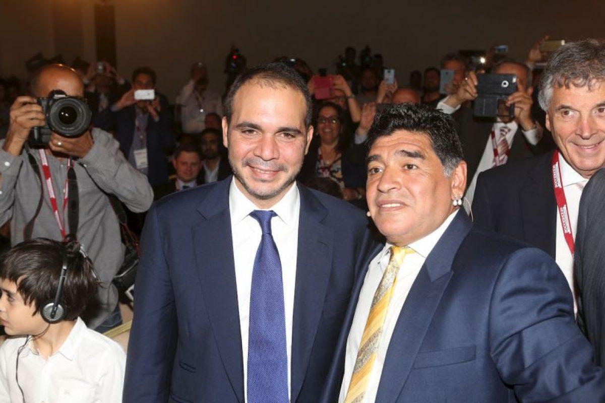 Uno de los principales apoyos de Al Hussein fue Diego Armando Maradona. Foto:Getty Images