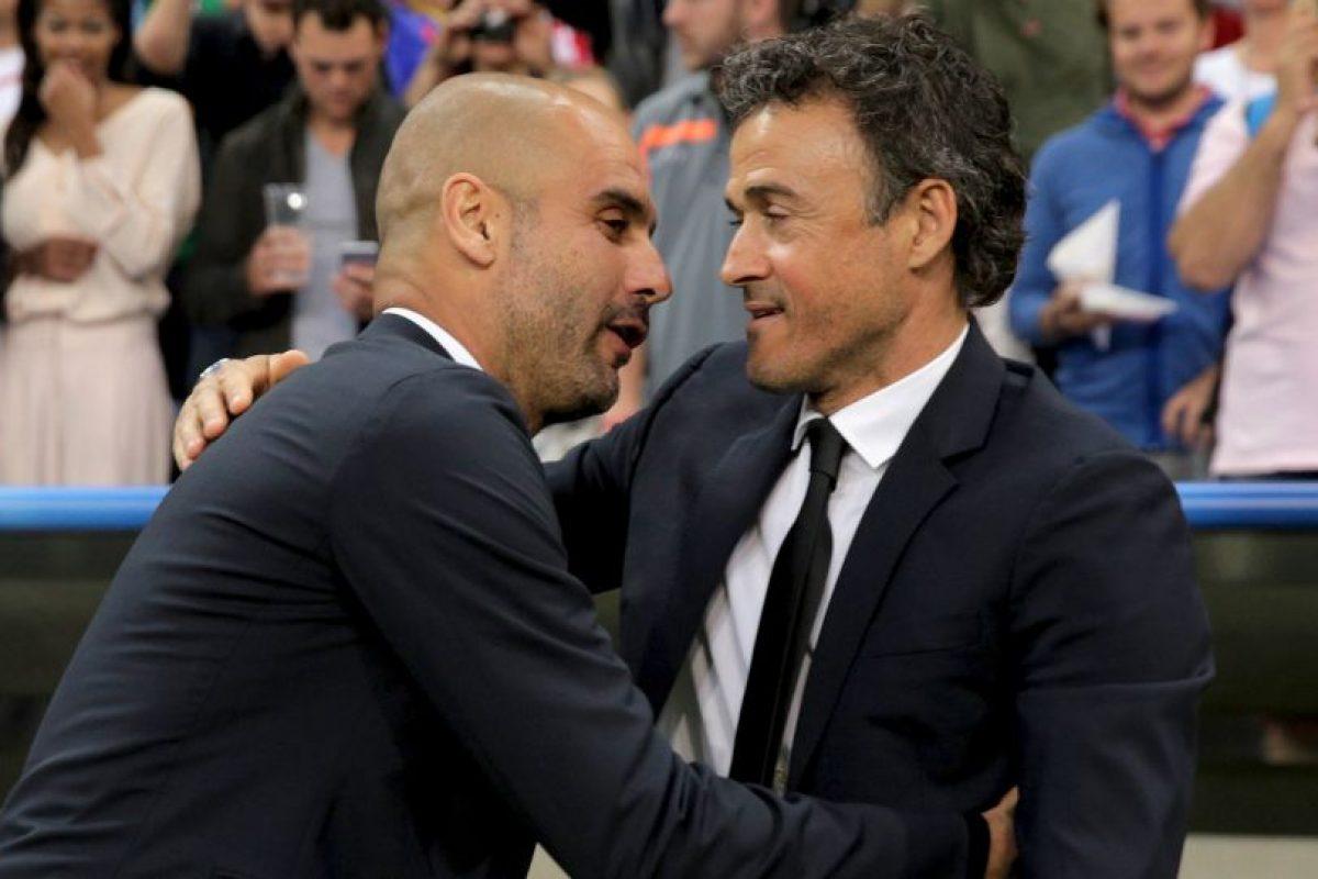 En semifinales de Champions se topó con su maestro y amaigo, Pep Guardiola Foto:Getty Images