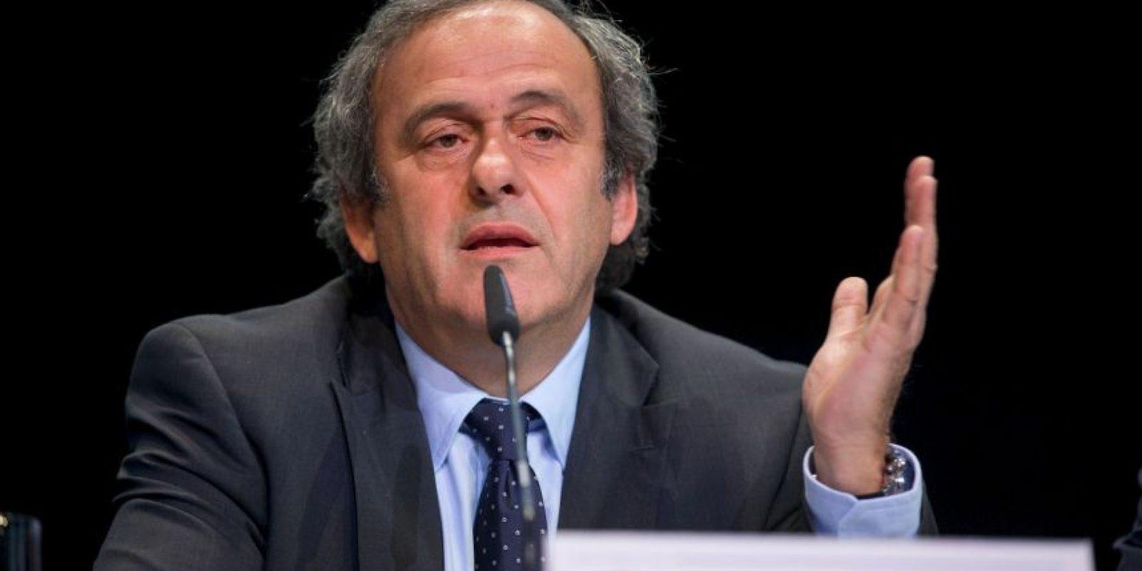 Por esta situación, Michel Platini, a nombre de la UEFA, pidió la renuncia de Blatter. F Foto:Getty Images