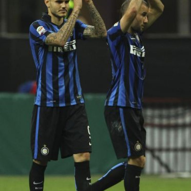 En 2010, cuando José mourinho era el técnico, el Inter de Milán levantó tres copas. Foto:Getty Images