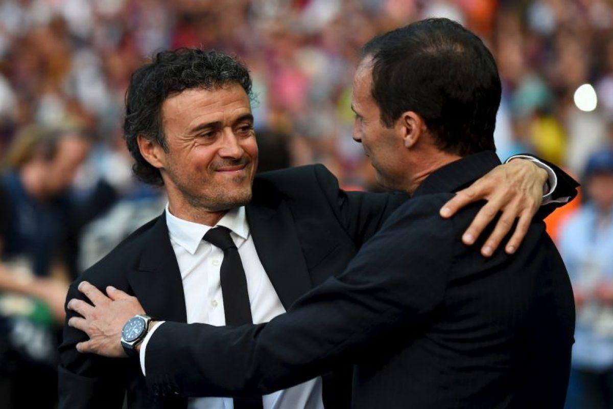 El saludo en la final de la Champions Foto:Getty Images
