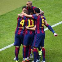 Barcelona conquistó en 2009 la Liga, la Copa y la Champions League. Era la primera temporada de Pep Guardiola al mando de los culé. Hoy, el Barça se convirtió en el primer equipo en conseguir dos veces el triplete Foto:Getty Images