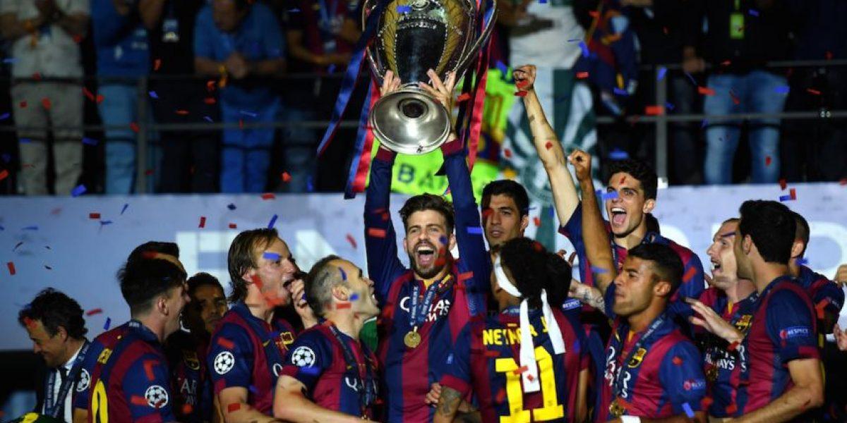 Champions League: El loco festejo de Gerard Piqué