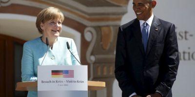 La primera reunión bilateral que tuvó la canciller Angela Merkel fue con el presidente Barack Obama. Foto:Getty Images