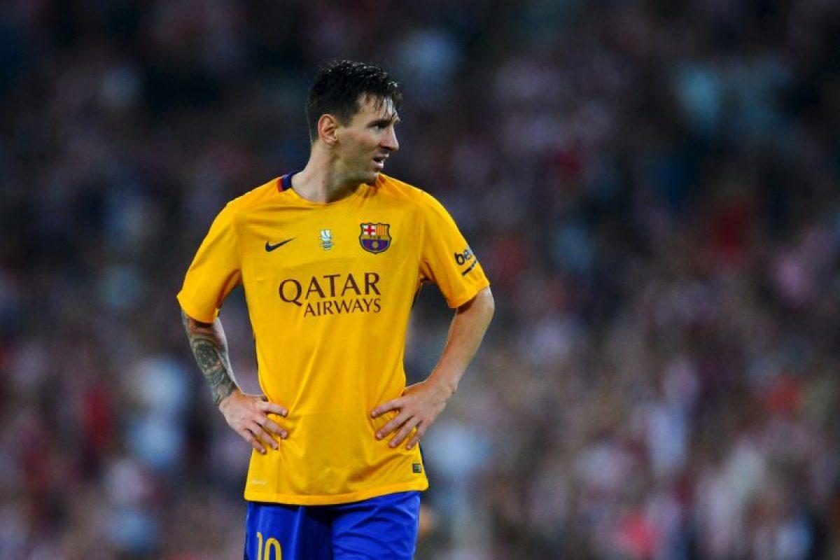 """Los culés apelan a un gran partido de la """"Pulga"""" para remontar el 4-0 ante el Athletic de Bilbao en la Supercopa de España Foto:Getty Images"""