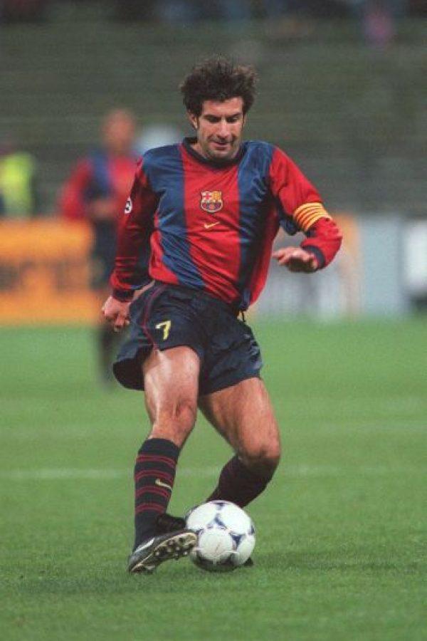 Luis Figo llegó al Barcelona en 1995. Foto:Getty Images