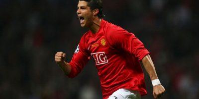 Cristiano Ronaldo también marcó en dos finales: 2008 frente a Chelsea, vistiendo la camiseta del Manchester United. Foto:Getty Images