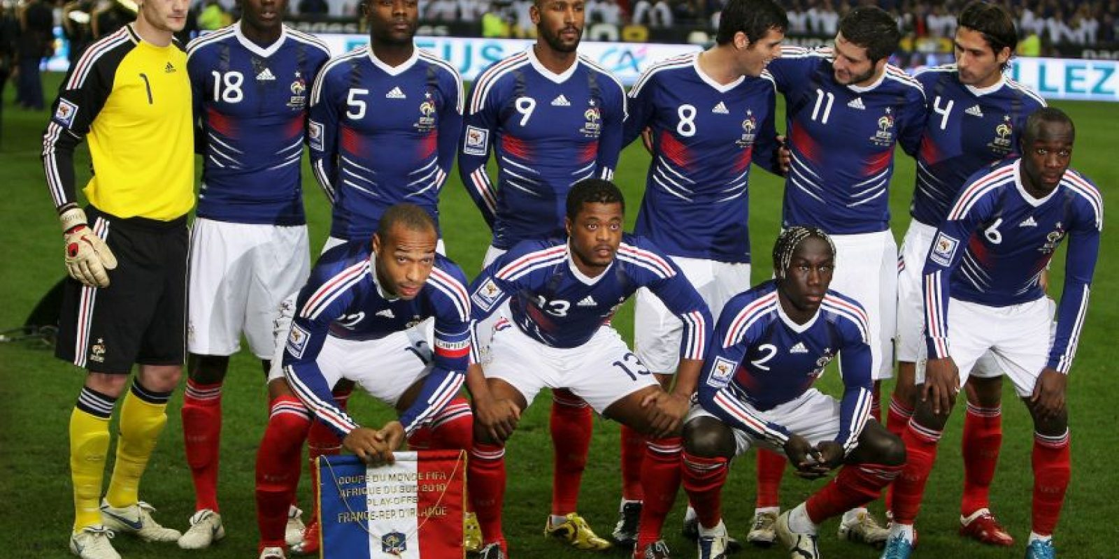 En 2009, Francia jugó contra Irlanda uno de repechajes de la UEFA rumbo a Sudáfrica 2010. Foto:Getty Images