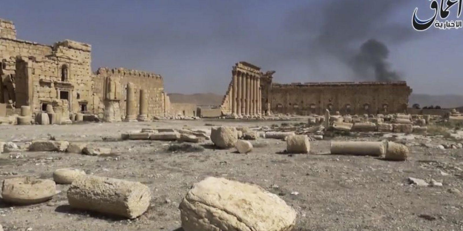 La destrucción de figuras en Palmira, Siria Foto:AP