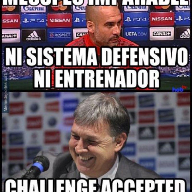 Y su sistema al que no termina de adaptarse Messi. Foto:memedeportes.com