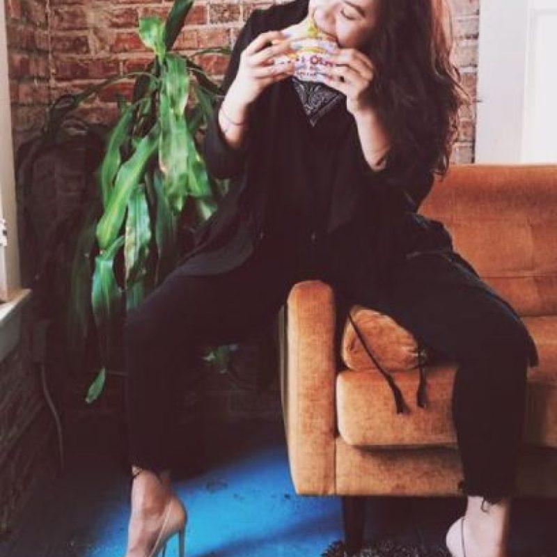 A lo que ella respondió con un selfie mientras comía. Foto:Vía Twitter/ @profreshstyle