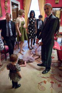 El presidente fue testigo de su berrinche. Foto:Vía Twitter @BenjaminFmoser