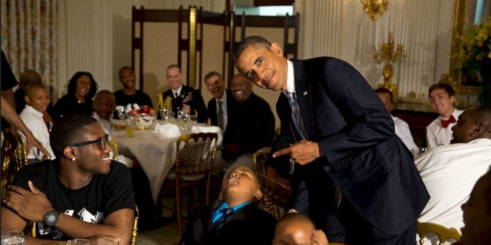 Los pequeños deben tener cuidado de no quedarse dormidos o pueden ser la burla del presidente Foto:Vía whitehouse.gov/photos