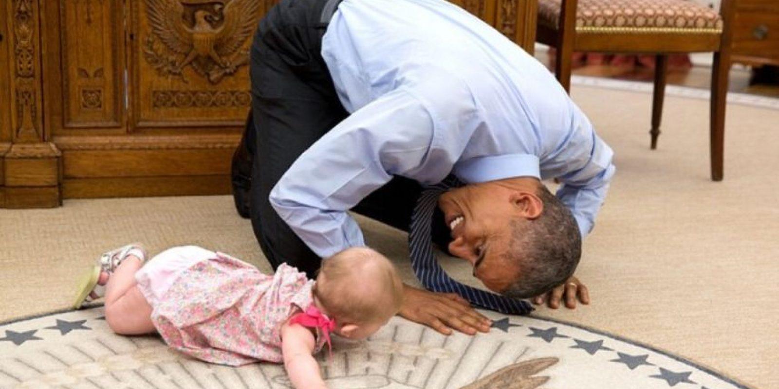 Fotografías como esta muestran un lado distinto de Barack Obama. Foto:Vía Instagram @petesouza