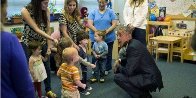 Una visita al preescolar puede resultar muy divertida. Foto:Vía whitehouse.gov/photos