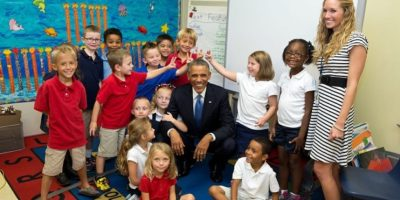 El presidente no se enoja si lo molestan. Foto:Vía whitehouse.gov/photos