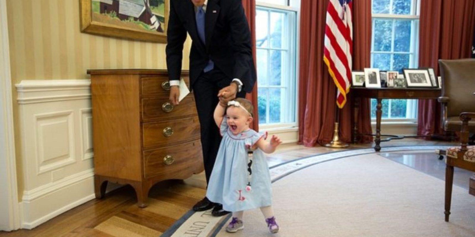 Una pequeña caminata a nadie le hace daño. Foto:Vía whitehouse.gov/photos