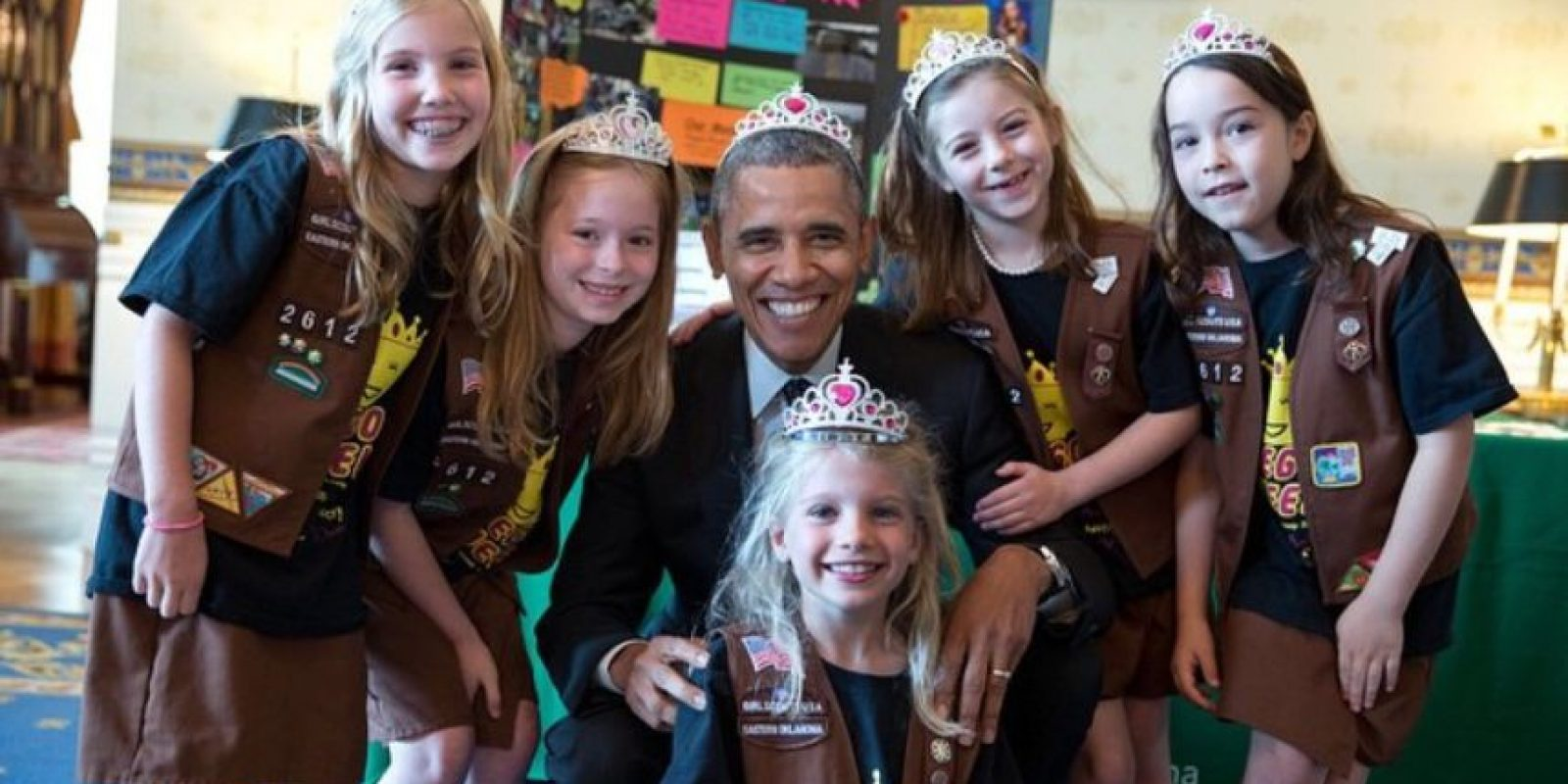 Todos deben saber tratar a las princesas. Foto:Vía whitehouse.gov/photos