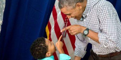 Algunos pequeños también saben lo que el presidente está pensando. Foto:Vía whitehouse.gov/photos