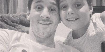 Su sobrino Agustín ya entrena en las inferiores del Barcelona. Foto:Vía instagram.com/leomessi