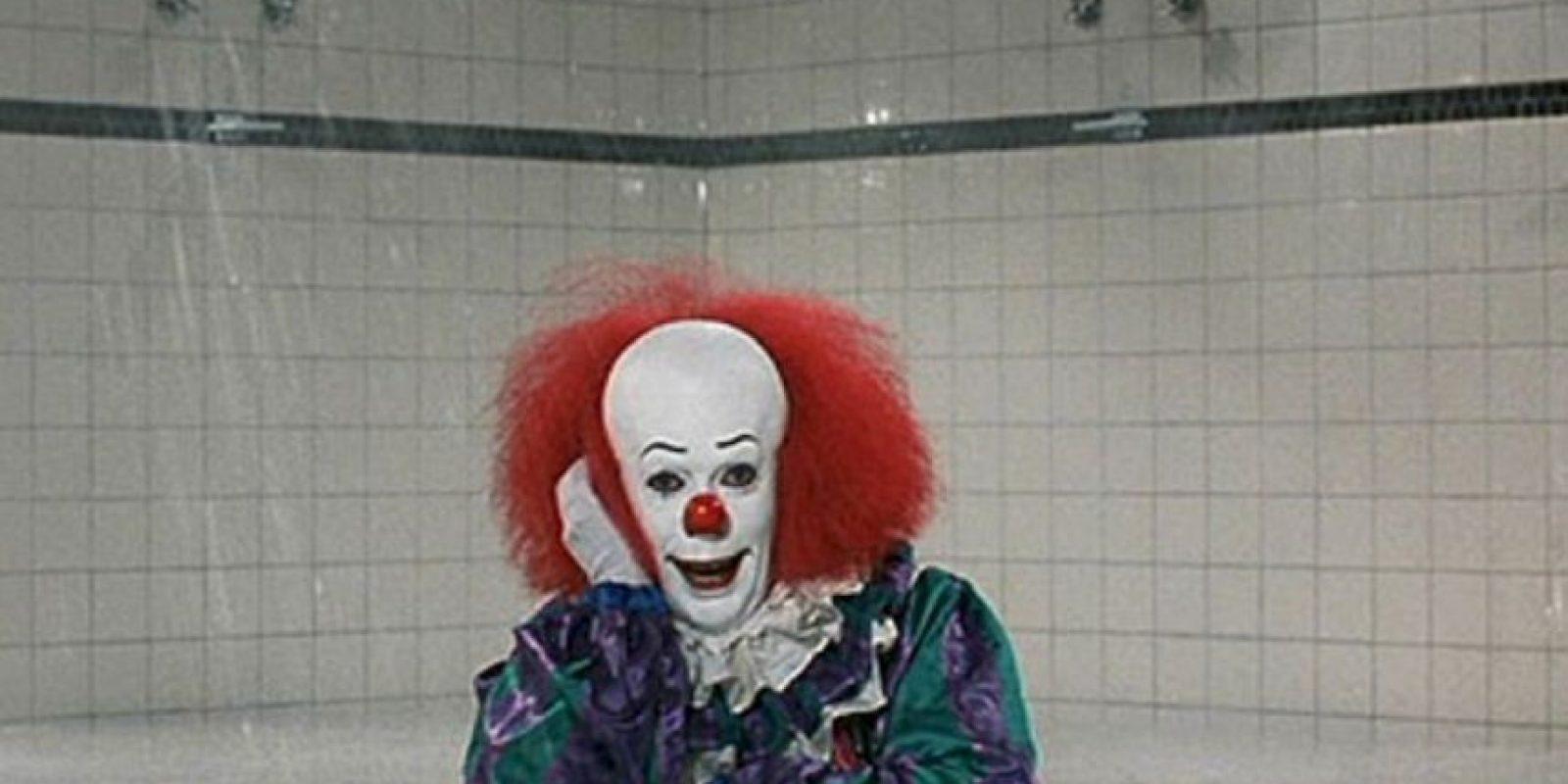 """Y también de la película """"Eso"""", donde interpretaba al horrible payaso Pennywise. Foto:vía Getty Images"""