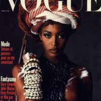 """Apareció en la portada de """"Vogue"""" en 1989, luego de que su amigo Yves Saint Laurent amenazara con retirar toda su publicidad si no ponían una modelo negra en portada. Foto:vía Vogue"""