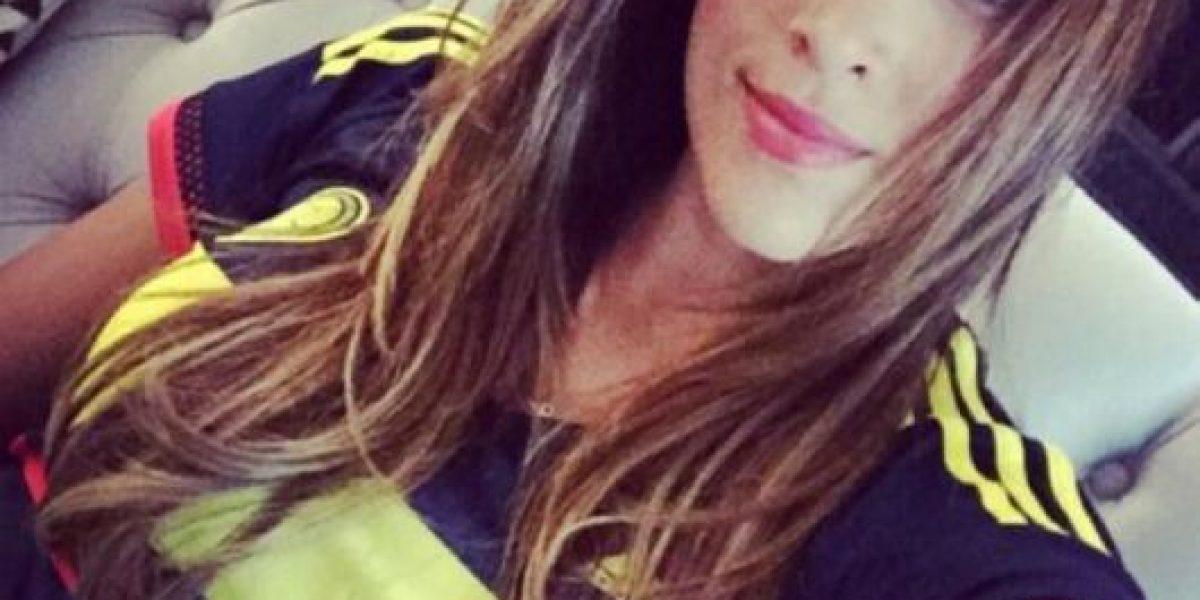 VIDEO: Así se vio a Daniela Ospina apoyando a James Rodríguez desde la tribuna
