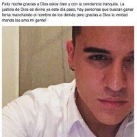 Pero luego, Roldán puso esto en su Facebook. Fue liberado por falta de pruebas, ya que la agredida no tenía nada. Foto:vía Facebook/Kevin Roldán