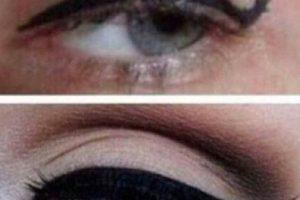 10. El pulso de todas no siempre es tan bueno comp para realizar un cat eye o un delineado griego . Foto:Reddit