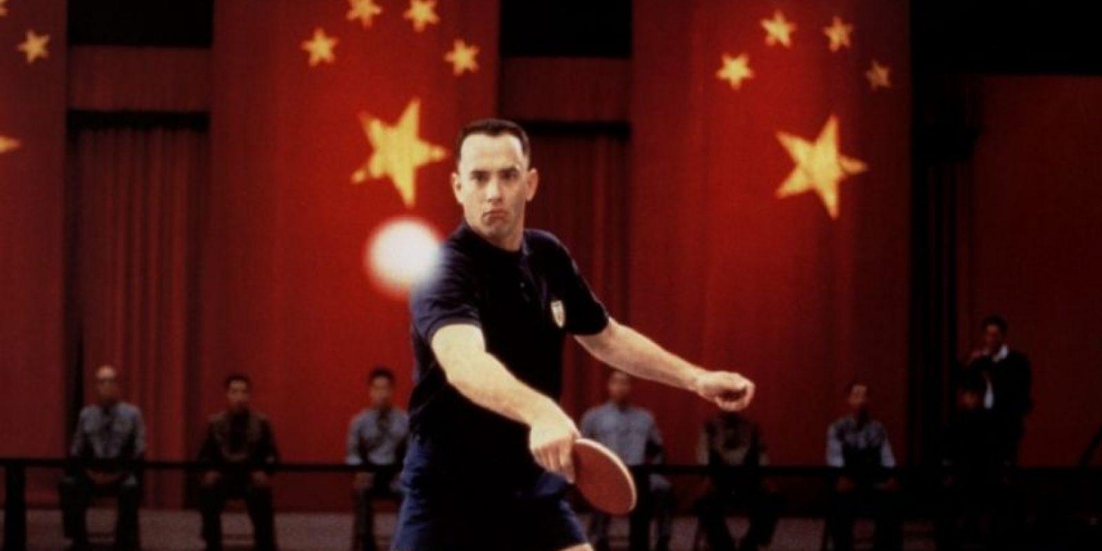 Forrest jugaba ping-pong. Por eso se hizo famoso. Foto:vía Paramount Pictures