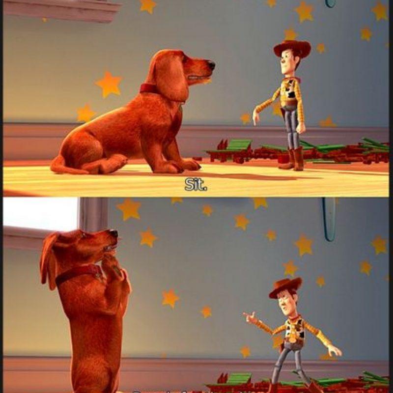 """Fue un regalo de navidad al final de la primera cinta. Cuando crece, este perro también se hace amigo de """"Woody"""" Foto:Disney/Pixar"""