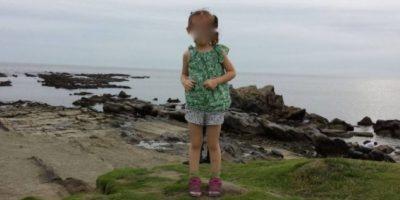 2. Si se fijan bien, hay algo que parecen unos pies detrás de la niña. Foto:Imgur