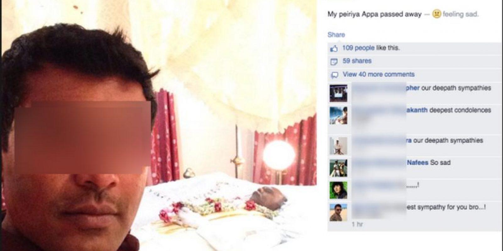 """El cadáver """"posaba"""" varios días amarrado con alambres y soportes especiales para mantenerlo erguido en la posición deseada Foto:Facebook"""