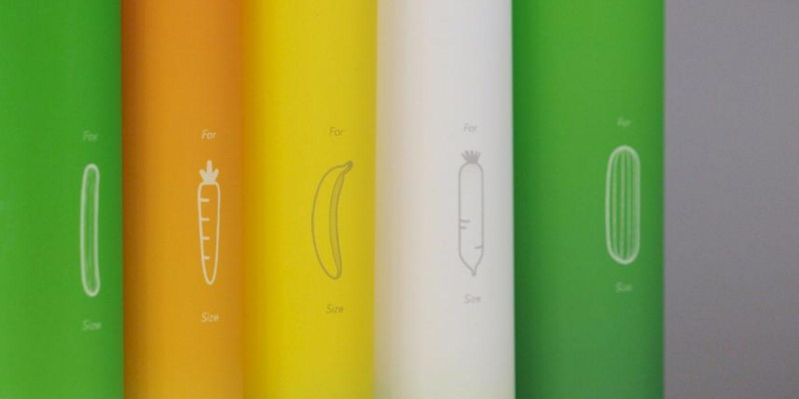 """""""Love Guide Condom"""" es la solución, pues tiene 5 tamaños diferentes. Foto:Vía behance"""