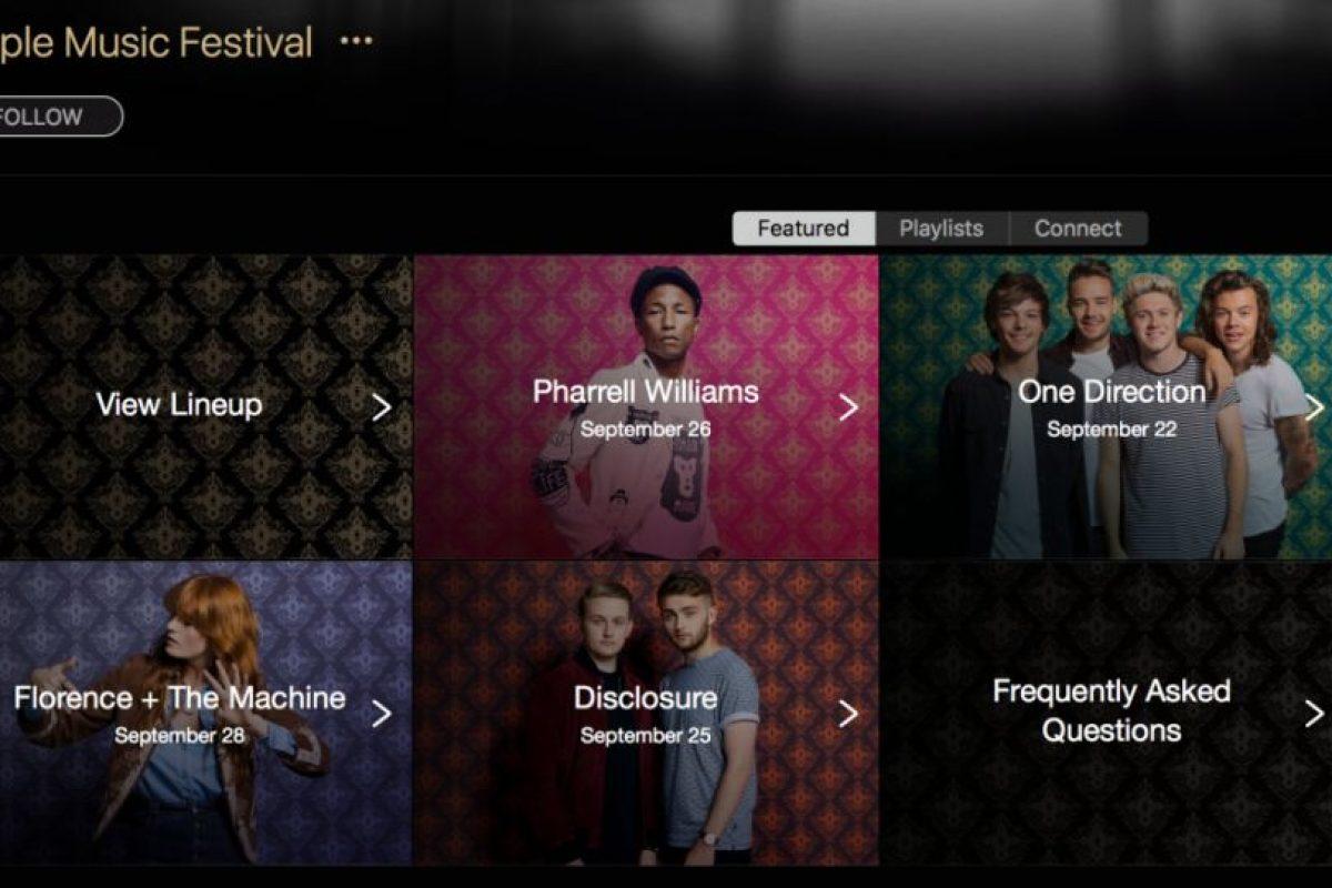 El anuncio de estos grupos ya es oficial Foto:Apple