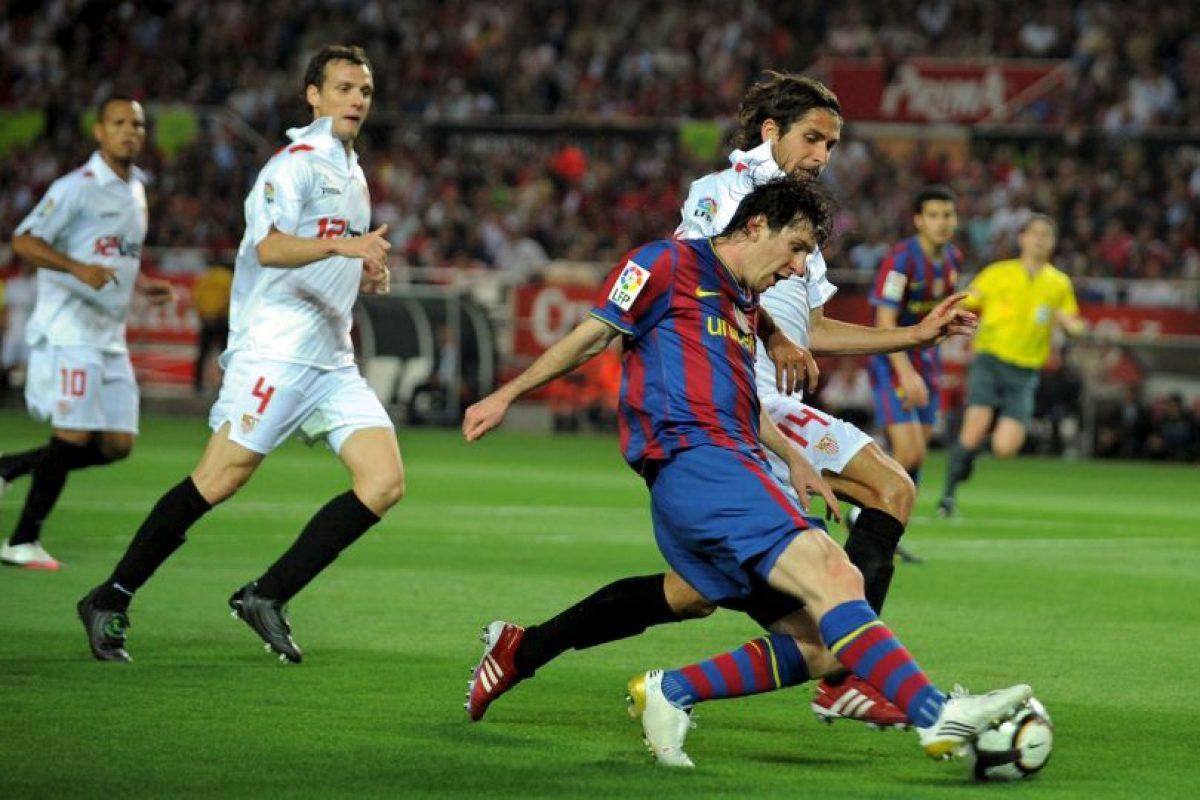 En la vuelta se impusieron 4-0 con un hat-trick de Messi Foto:Getty Images